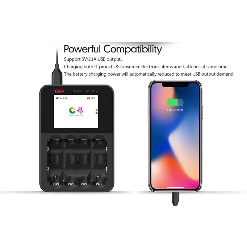 Ladegerät DC iSDT SMART CHARGER C4 25W 3A 1 4S