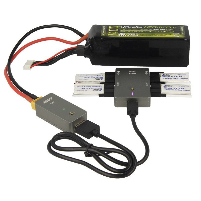Ladegerät DC iSDT SMART CHARGER UC4 18W 0,5 1,5A 4x1S Lipo