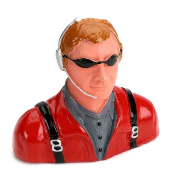 1/7 Pilot-Civilian with Headset,Mic And Sunglasses