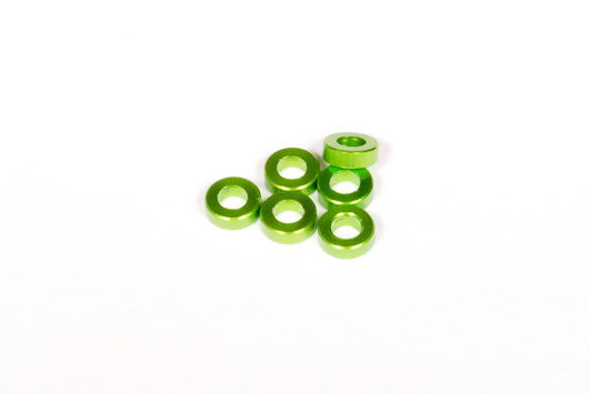2x6mm Spacer - Green (6pcs)