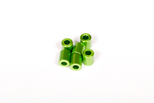 7x6mm Spacer (Green) (6pcs)