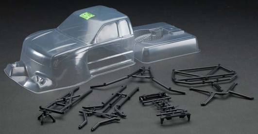 Axial Trail Honcho Truck Body - .040 uncut (Clear) w/Molded Rear Cage
