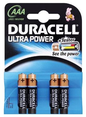 Batterie Duracell Ultra Power AAA Micro Blister 4 Stück