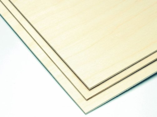 Birken-Sperrholz 0.4 x 300 x 900 mm (VE=2St.)