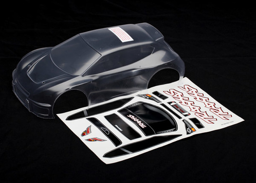 Body, 1/16 Rally (clear, requires painting)/ grill and lights decal sheet
