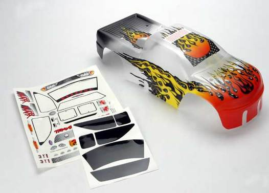 Body, T-Maxx, ProGraphix (replacement for the painted flames body. Graphics are painted, requires paint & final color application.)