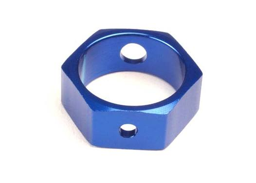 Brake adapter, hex aluminum (blue) (use with HD shafts)