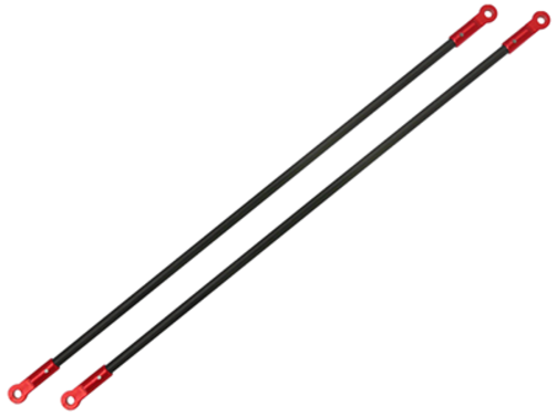 CNC AL Tail Boom Support Set (Red) - Blade 200SRX