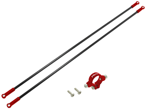 CNC AL Tail Boom Support Set (Red) - Blade 230 S