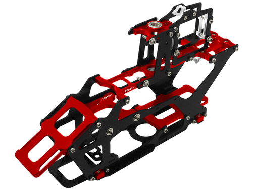 CNC AL and CF Main Frame Set (Red) - Blade 230 S
