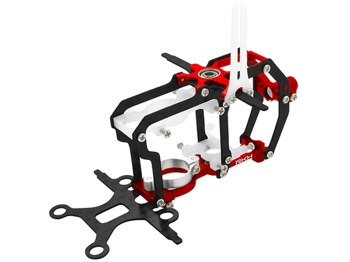 CNC Aluminium / Carbon Chassis (rot) - Blade Nano CP S