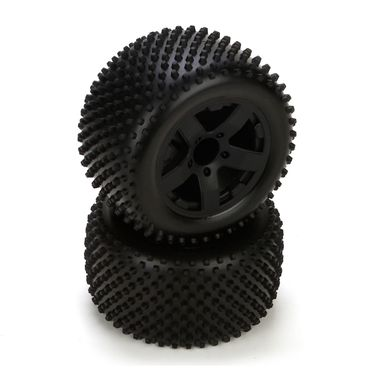 Circuit Tire, Premount, Rear, Black Wheel (2)