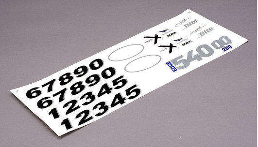Decal Set Edge 540QQ