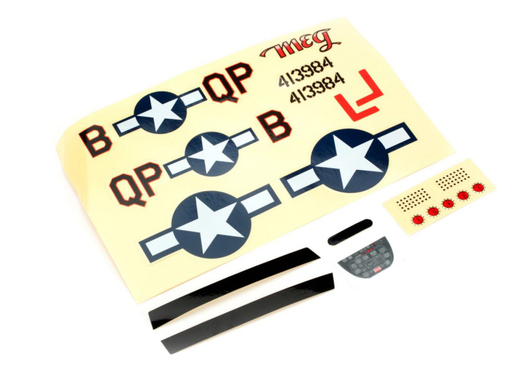 Decal Sheet Ultra-Micro P-51D Mustang with AS3X