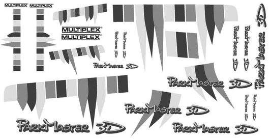 Decal sheet Parkmaster 3D Multiplex