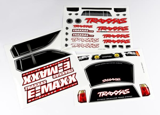 Decal sheets, E-Maxx Brushless (model 3908)