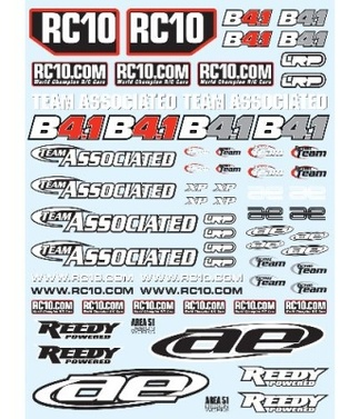 Decals TEAM ASSOCIATED RC10B4.1 SPECIAL 2012