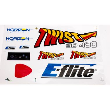 E-flite Decal Sheet: Twist 480