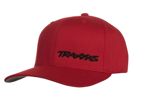 FLEX HAT CURVE BILL RED/BLK SM