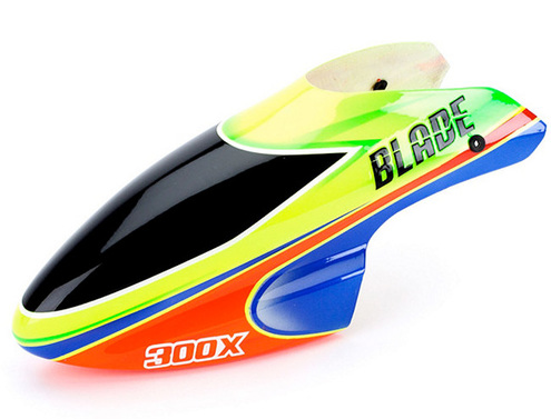 Fiberglass canopy for the Blade 300X green/orange