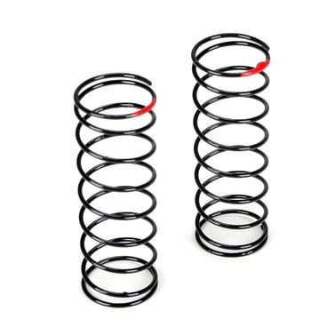 Front Shock Spring, 2.5 Rate, Red: 22T