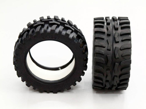 Front/rear rubber radial tire with insert (40g) (offroad dirt hawg pattern)