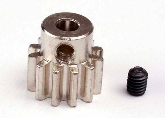 Gear, 12-T pinion (32-p) (mach. steel)/ set screw