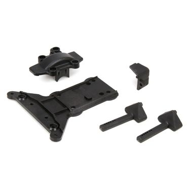 Gear Cover/Kick Plate/Battery Mnts: 1:10 4wd All