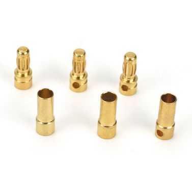 Gold Bullet Connector Set, 3.5mm (3)