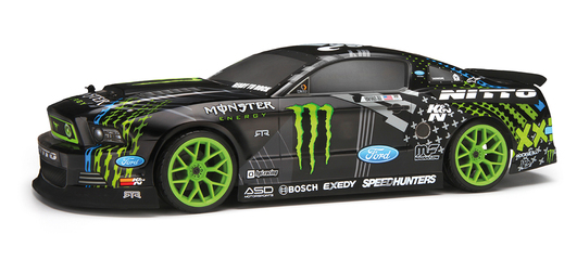 HPI E10 DRIFT Ford Mustang Monster RTR