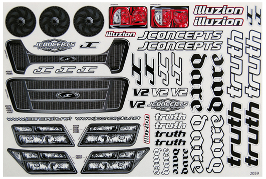 JConcepts - Truth / Dare Aufkleber Set