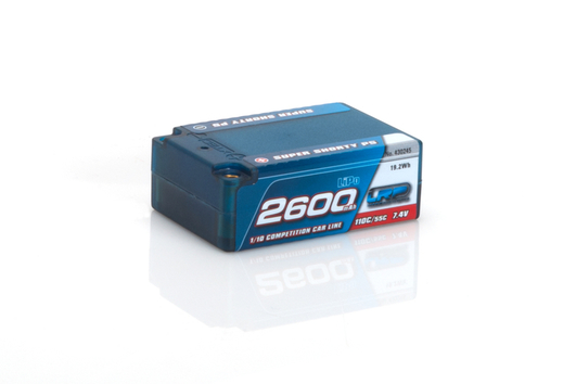 LRP 2600 - Super Shorty P5 - 110C/55C - 7.4V LiPo - 1/10 Competition Car Line Hardcase