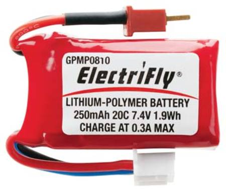LiPo Pack 7,4V, 250mAh (F-86 Sabre Great Planes etc.)