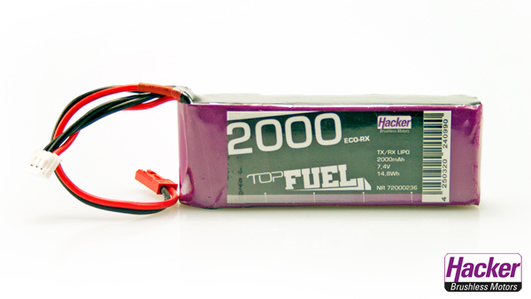 LiPo Pack Hacker TopFuel 2000 ECO-rX Straight 2S