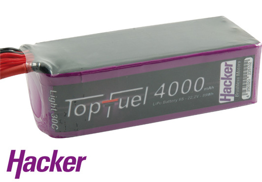 LiPo Pack Hacker TopFuel Lipo 30C Light 4000mAh 6S