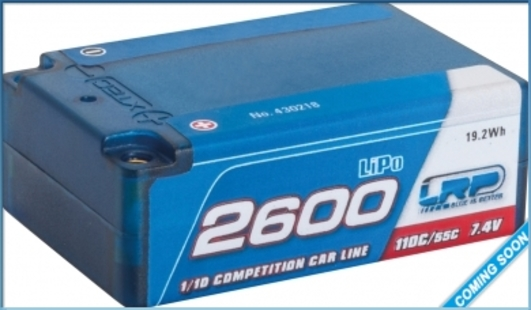 LiPo Pack LRP 2600mAh 7.4V Super Shorty 110C/55C Competition