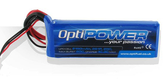 LiPo Pack Optipower 2150 mAh 2S