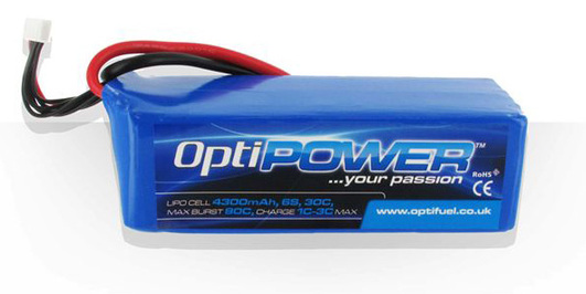 LiPo Pack Optipower 4300 mAh 6S