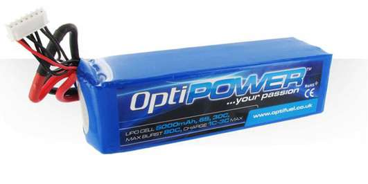 LiPo Pack Optipower 5000 mAh 6S