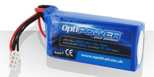 LiPo Pack Optipower 850 mAh 3S