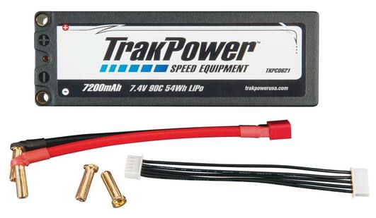LiPo Pack Track Power 2S 7.4V 7200mAh 90C HC 5mm