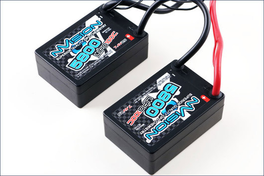 LiPo Pack nVision Factory Pro Lipo 5800 100C 7.4V 2S Saddle Pack Deans