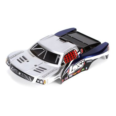 Losi 1/24 4WD SCT Painted Body, Silver/Blue