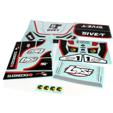 Losi 5IVE Sticker & Graphic Sheet Set, White: 5T