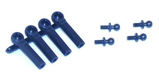 Losi Ball Studs w/Ends, 4-40 x 3/16