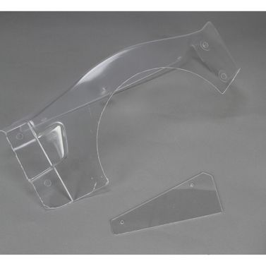 Losi Body Left Fender & # Plate, Clear: 5IVE-T