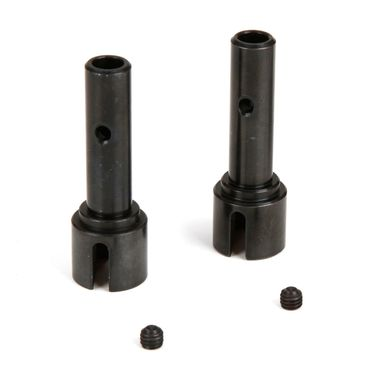 Losi Front/Rear Stub Axle (2): 1:5 4wd