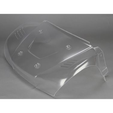 Losi Hood/Front Fenders Body Section, Clear: 5T