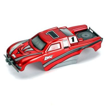 Losi Micro Desert Truck Painted Body Set, Candy Red