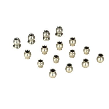 Losi Pivot Ball Set, Hard Anodized(16): TEN